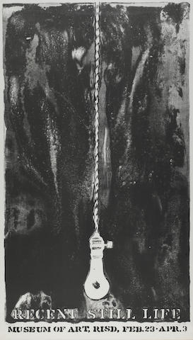Jasper Johns, Recent Still Life, Museum of Modern Art, RISD, Apr. 3, Signed and dated (lower right) and edition numbered 85/100 (lower left), Lithograph, Sheet 35 ½ x 20 ½ inches;