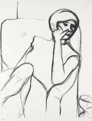 Richard Diebenkorn (American, 1922-1993); Woman Seated in an Armchair;