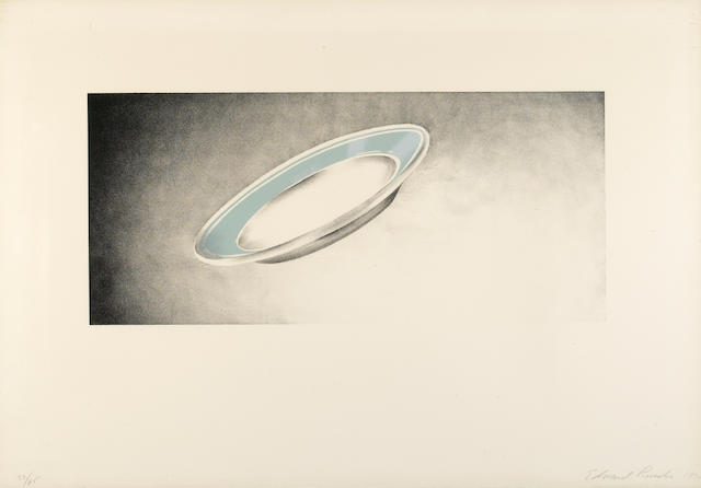 Edward Ruscha (American, born 1937); Plate, from Domestic Tranquility Series;