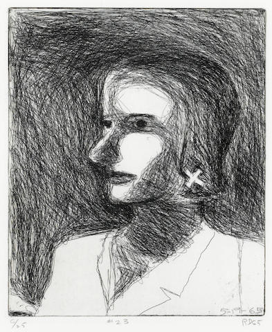 Richard Diebenkorn (American, 1922-1993); #23, from 41 Etchings Drypoints;