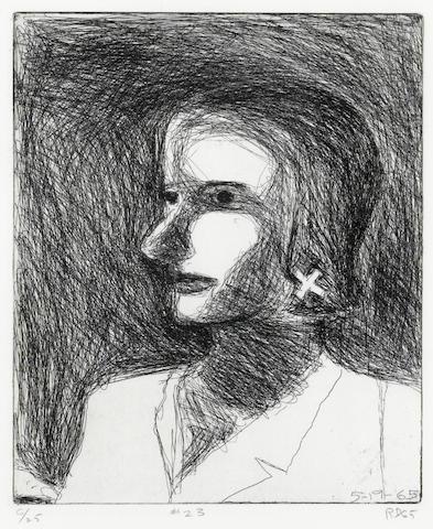 Richard Diebenkorn (American, 1922-1993); #23, from 41 Etchings Drypoints;