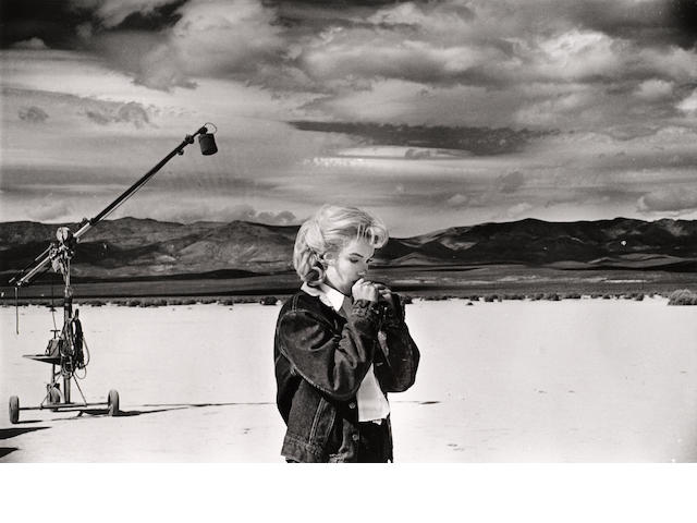 Eve Arnold (American, 1913-2012); Marilyn Monroe, on Set of 'The Misfits', Nevada Desert;