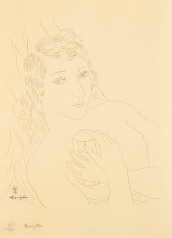 Léonard Tsuguharu Foujita (Japanese/French, 1886-1968); Untitled (Nude);