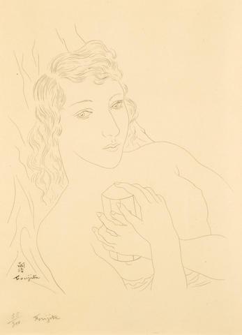 Léonard Tsuguharu Foujita (Japanese/French, 1886-1968); (Nude);