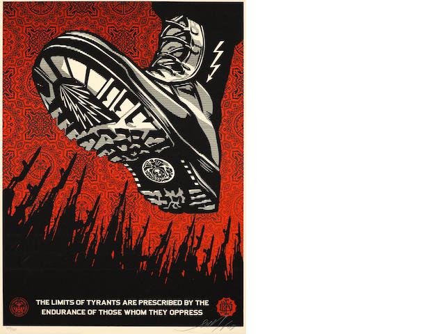 Shepard Fairey (American, born 1970); Tyrant Boot;