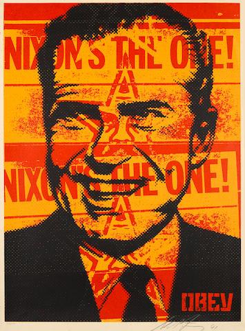 Shepard Fairey (American, born 1970); Nixon's the One;