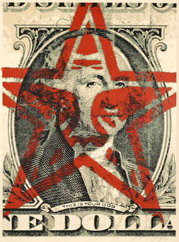 Shepard Fairey (American, born 1970); This is Your God;