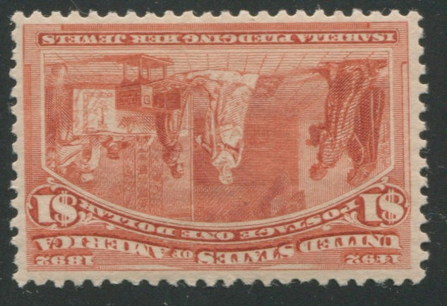 $1.00 Columbian (241) well centered, o.g., very fine. $1,100.00