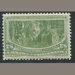 $3.00 Columbian (243) fresh, lightly hinged, fine. $1,600.00