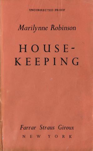 ROBINSON, MARILYNNE. Housekeeping. New York: Farrar, Straus, Giroux, [1980].