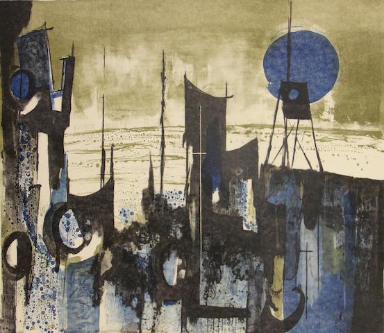 John D. Muench (American, born 1914); Coastal Signals; (2)