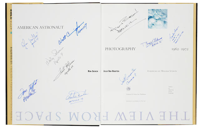 K11565 Schick et al. The View from Space, signed by multiple astronauts