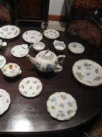 A group of two Herend porcelain part services in the Queen Victoria and Rothschild Bird patterns