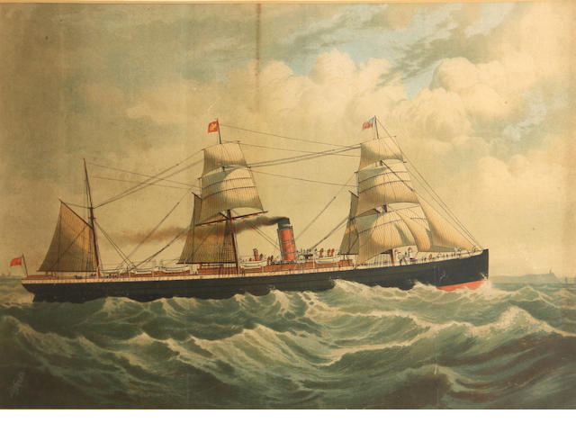 Defries, Ship at sea, print;