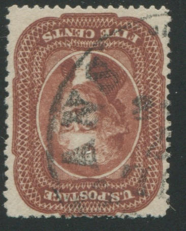 5c red brown (28) fresh color, reperfed, appears very fine $1,150.00