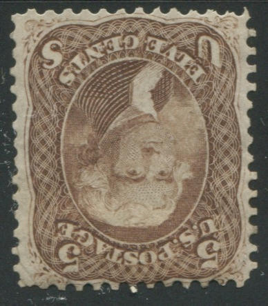 5c brown (76) disturbed o.g., fine $1,500.00