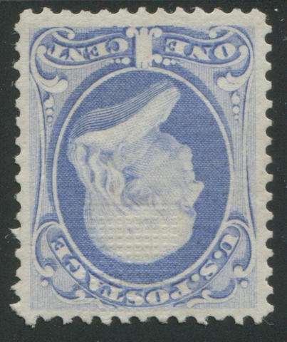 1c ultramarine (134) fresh bright color and paper, o.g., very fine. Ex. Irving Piliavin with P.F. certificate (1971) $2,000.00