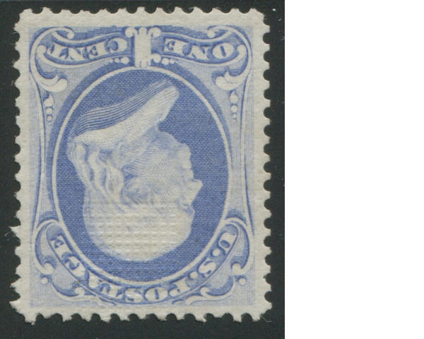 1c Ultramarine (134) fresh bright color and paper, o.g., very fine. Ex. Irving Piliavin with P.F. certificate (1971) $2,250.00