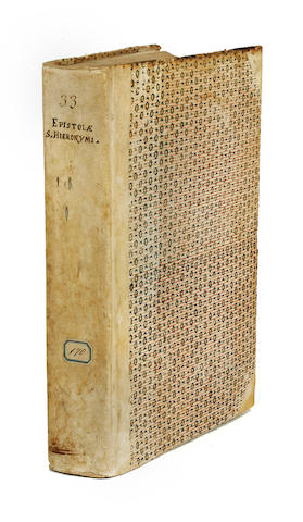 JEROME, SAINT. 340?-420. Epistolae. - LUPUS DE OLIVETO. Regula monachorum ex Epistolis Hieronymi excerpta. Venice: Johannes Rubeus Vercellensis, January 7, 1496, July 12, 1496.