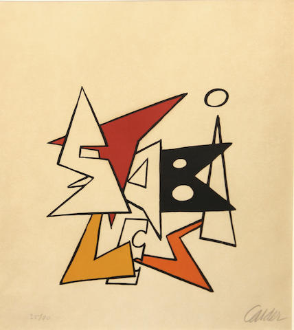 Alexander Calder, Untitled, Lithograph 35 of 100 sight, 17.5x14.75in