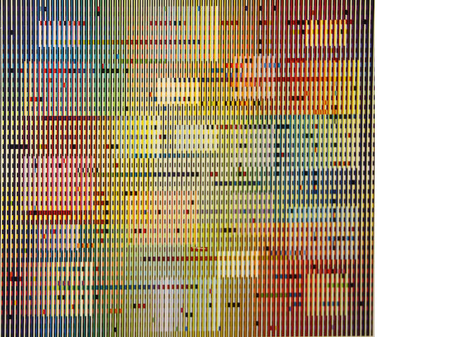 Yaacov Agam, Untitled, Color screenprint, Signed and numbered 101 of 200, 22x24in;