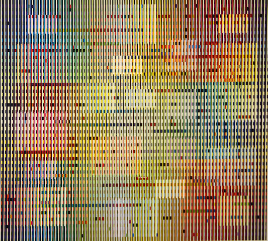 Yaacov Agam (Israeli/French, born 1928); Untitled (Floating squares);