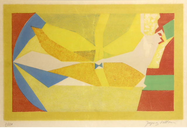 Jacques Villon, Untitled, Color Lithograph, 71 of 220, 11.5 x 19in