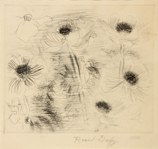 Raoul Dufy (French, 1877-1953); Untitled (Poppies);