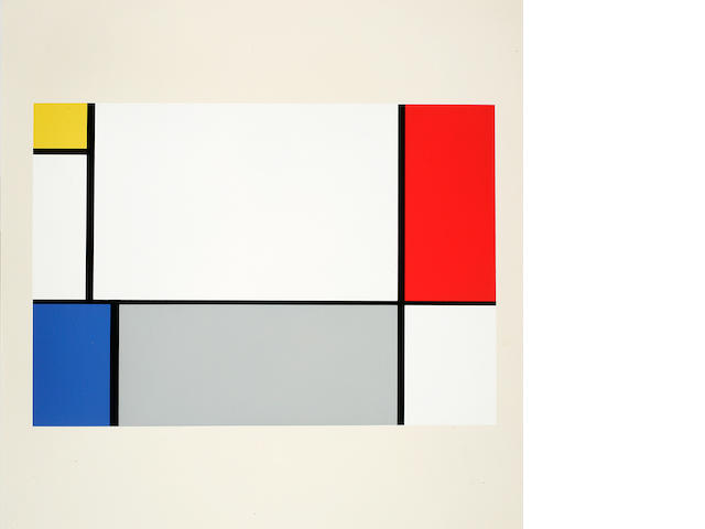 MONDRIAN, PIET. 1872-1944. A Portfolio of 10 Paintings. New Haven, CT: Ives-Sillman, 1967.