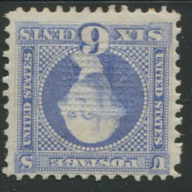 6c Ultramarine (115) part o.g., unpunched perf. at left, fine, with P.F. certificate (1987). $2,750.00