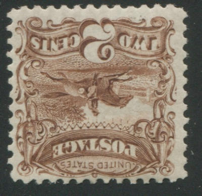 2c brown Re-Issue (124) o.g., almost very fine. $650.00