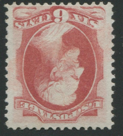 6c carmine (137) brilliant color, slightly disturbed o.g., tiny tear in margin at top right, otherwise fine, with P.F. certificate. $5,000.00