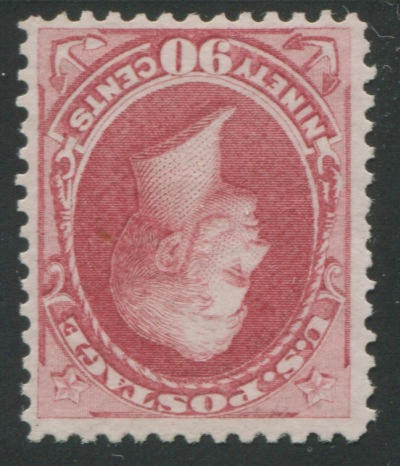 90c carmine (155) bright color, centered, unused, very fine, with P.F. certificate (1982). $1,900.00