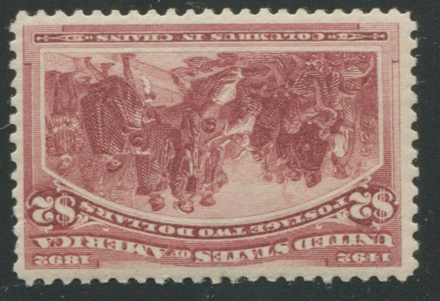 $2.00 Columbian (242) lightly hinged, almost very fine. $1,150.00