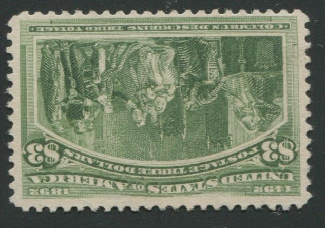 $3.00 Columbian (243) unused, fine, with P.F. certificate (1988). $800.00