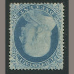 1c blue type I (18) well-centered, fresh color, part o.g., thin, otherwise fine, with P.F. certificate. $2,100.00