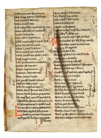MS fragment, 2 leaves, ex-Quaritch/Rosenthal