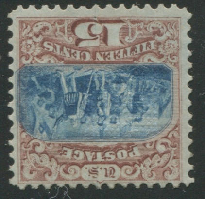 15c brown & blue type I (118) original gum, very fine for this rarity, with P.F. certificates (1981 & 2011). $9,500.00