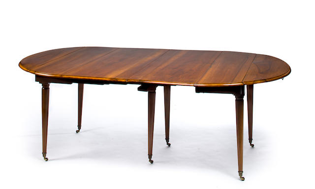A late Louis-Phillippe walnut dining extension table mid 19th century