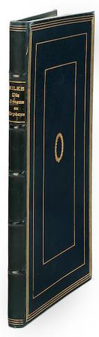 RILKE, RAINER MARIA. 1875-1926. Die Sonette an Orpheus. Leipzig: Insel-Verlag, 1923.