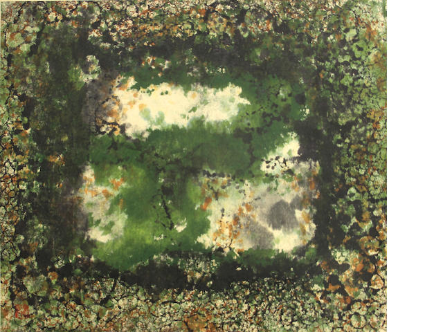Yang Ying-Feng (Taiwanese, born 1926); Untitled (Green composition);