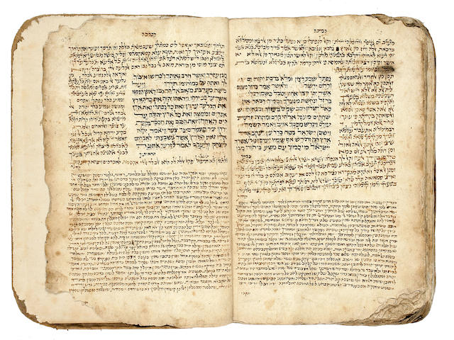 HEBREW MANUSCRIPT. Manuscript on paper, 259 ll, folio, Yemen, 16th century,