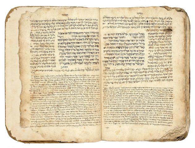 HEBREW MANUSCRIPT. Manuscript on paper, 259 ll, folio, Yemen, 16th century,