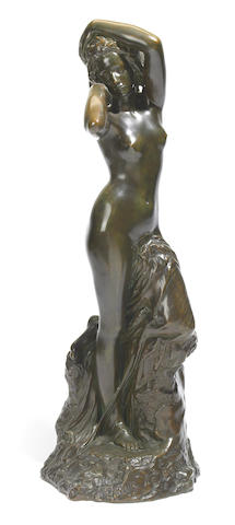 Gustave Frederic Michel (French, 1843-1924)Dans Le Reve Patinated bronze figure