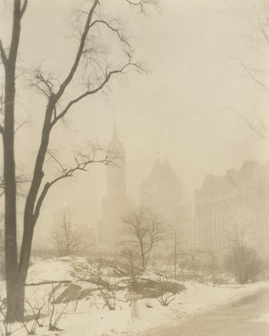 Jessie Tarbox Beals (American, 1871-1942); Across Central Park;