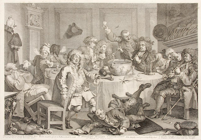 HOGARTH, WILLIAM. 1697-1764. The Original Works of William Hogarth. London: John & Josiah Boydell, 1790.