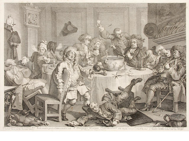 HOGARTH, WILLIAM. 1697-1764. The Original Works of William Hogarth. London: John & Josiah Boydell, 1790.<BR />