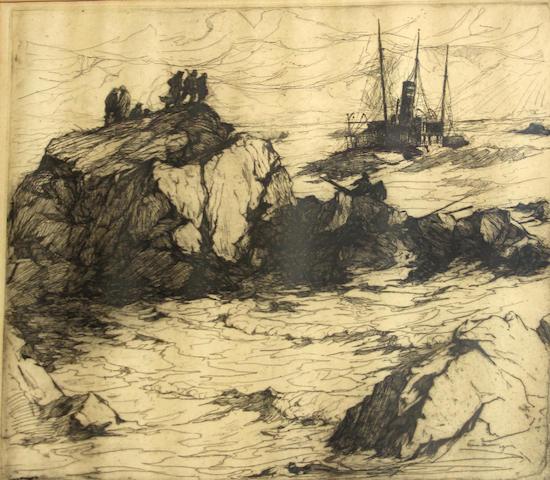 Armin Hansen (American, 1886-1957); Requiem;