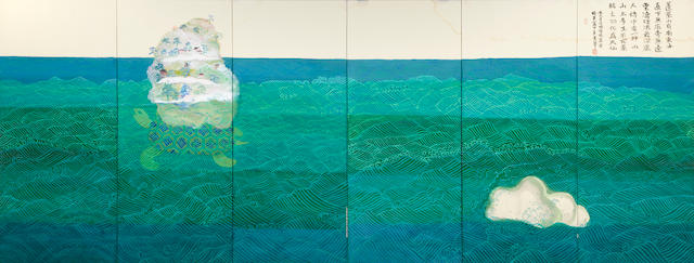 LAURA ALLEN INSPECTION*** Suzuki Misako and Mutsumi: a six panel screen of Horaizan