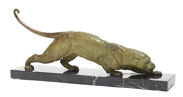 A D.H. Chiparus cold-painted spelter panther circa 1930